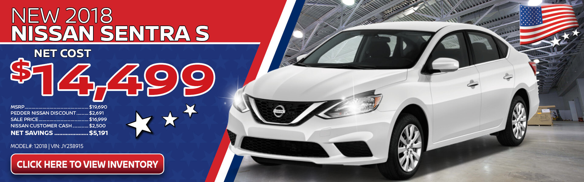 Nissan Sentra $14,499 Purchase