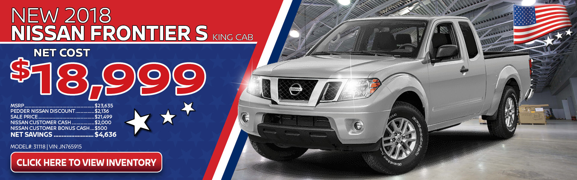Nissan Frontier Purchase $18.999