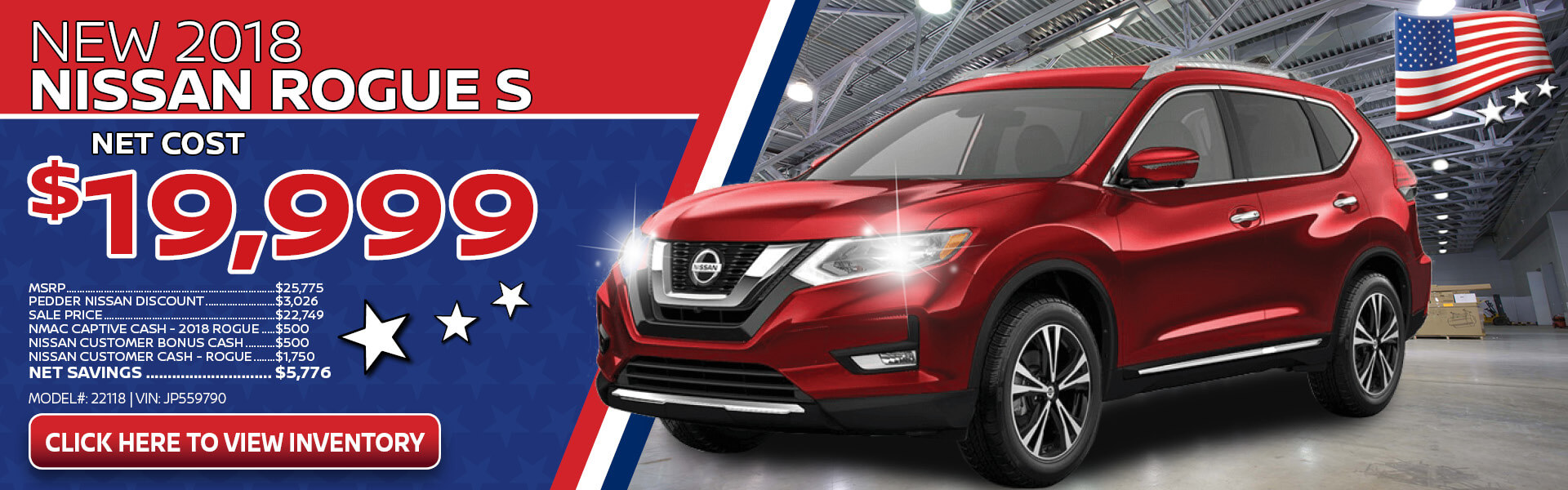 Nissan Rogue $19,999 Purchase