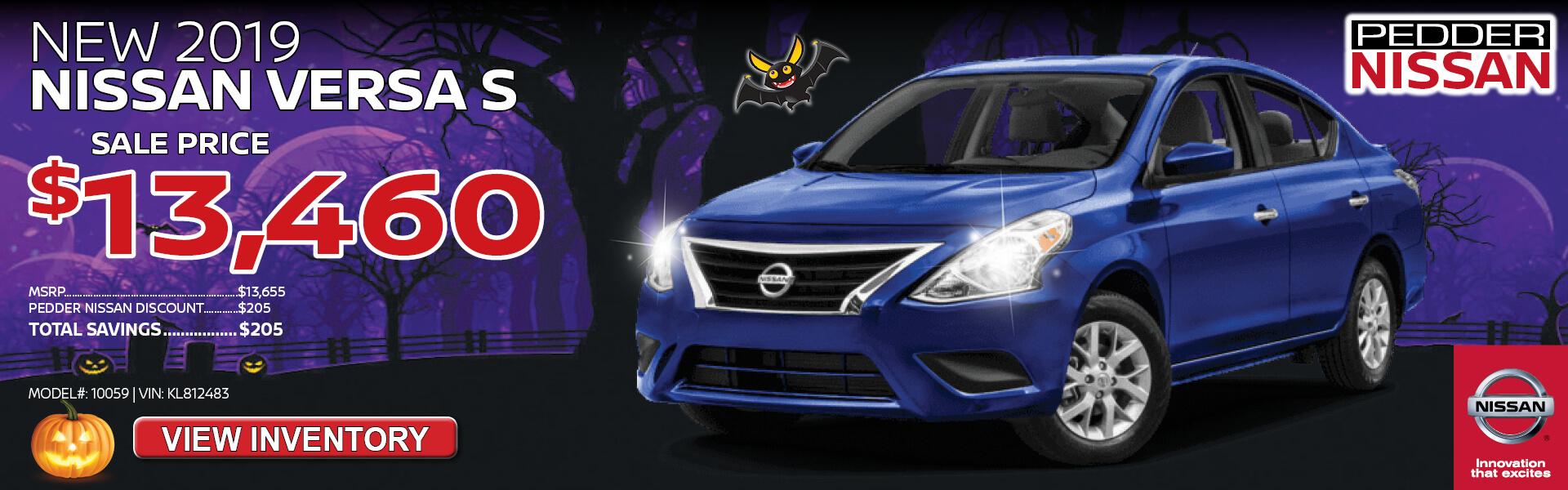 Nissan Versa $13,460 Purchase