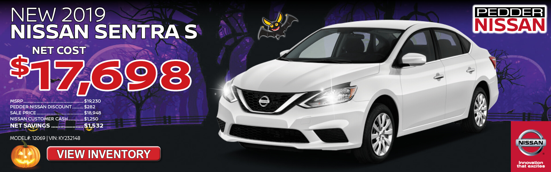 Nissan Sentra $17,698 Purchase