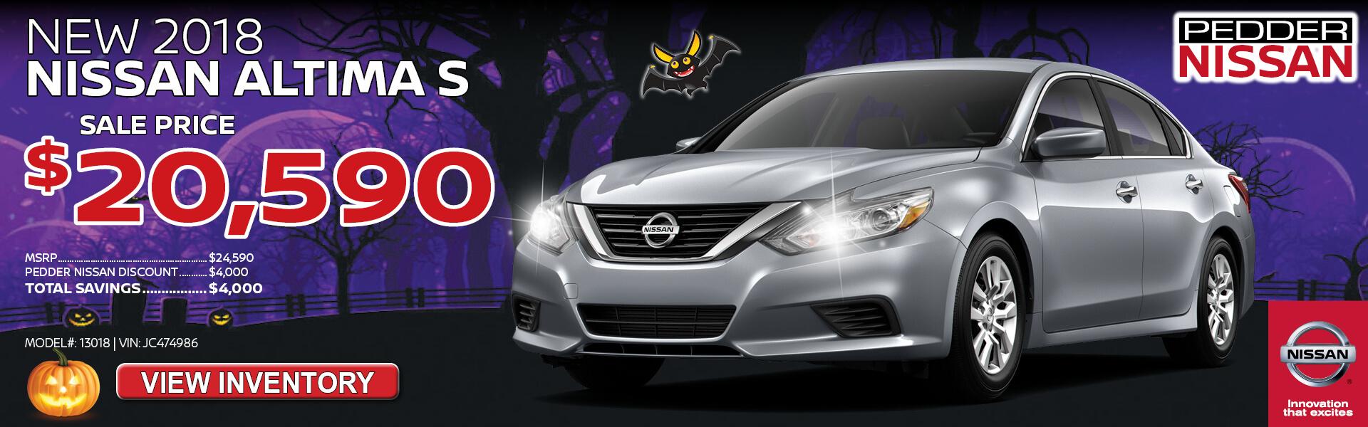 Nissan Altima $20,590 Purchase