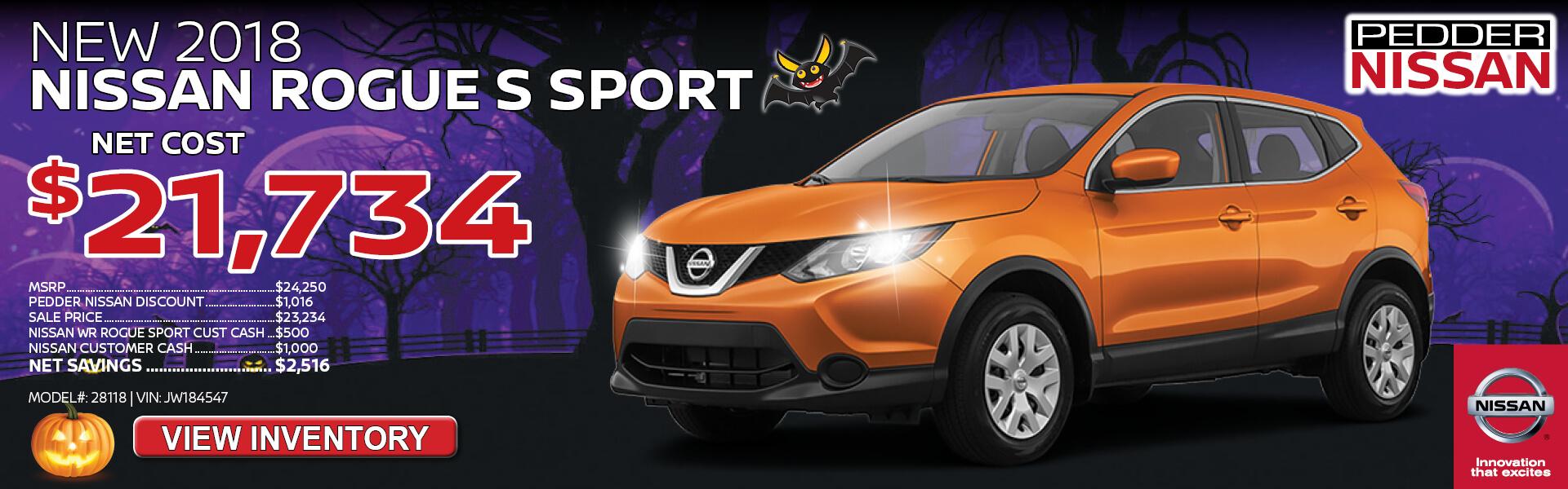 Nissan Rogue Sport $21,734