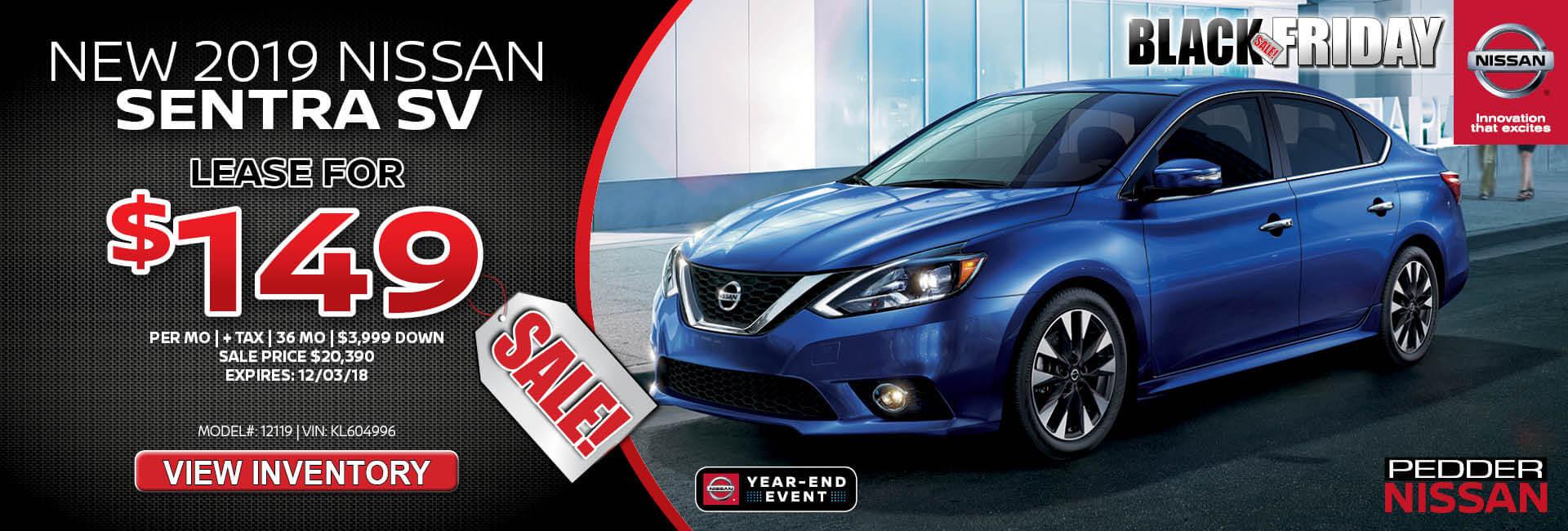 Nissan Sentra $149 Lease