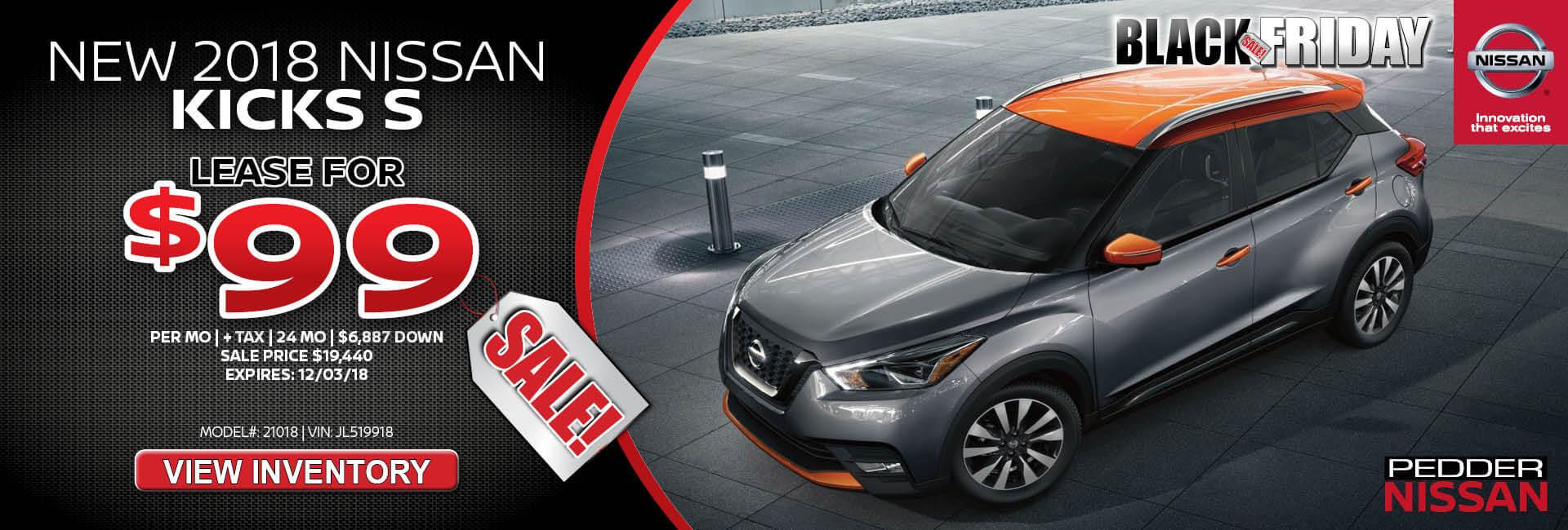 Nissan Kicks $99 Lease