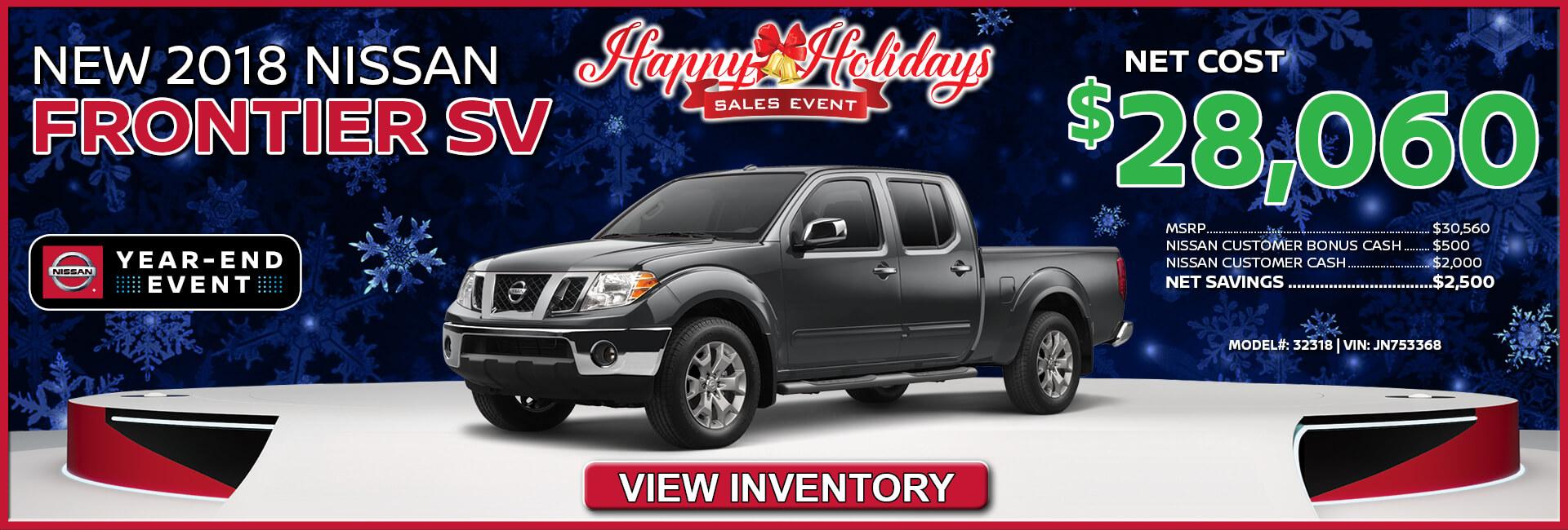 Nissan Frontier $28,060
