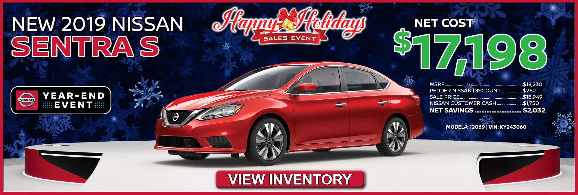 Nissan Sentra $17,198