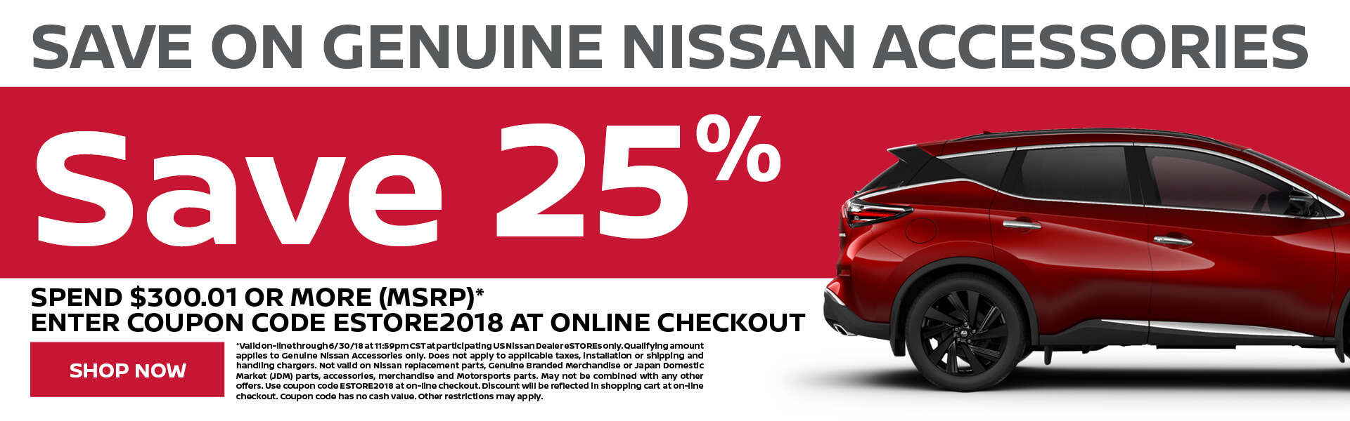 Nissan Accessories 25% Off