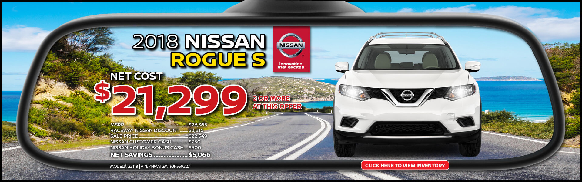 Nissan Rogue $21,299 Purchase