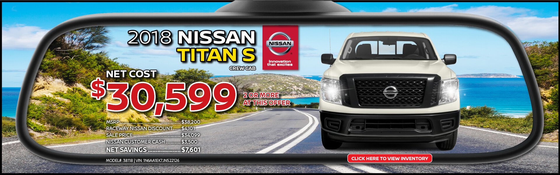 Nissan Titan $30,599 Purchase