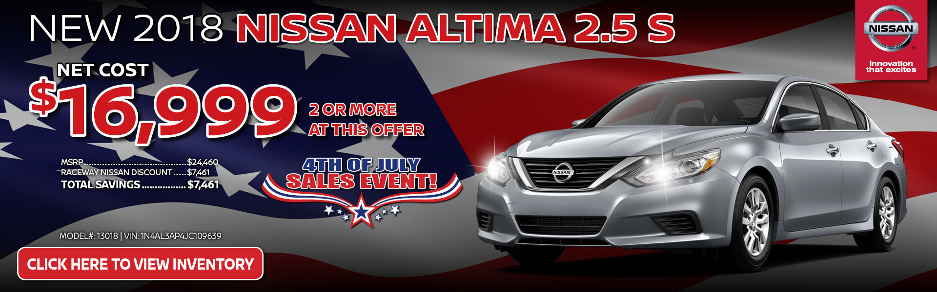 Nissan Altima $16,999 Purchase