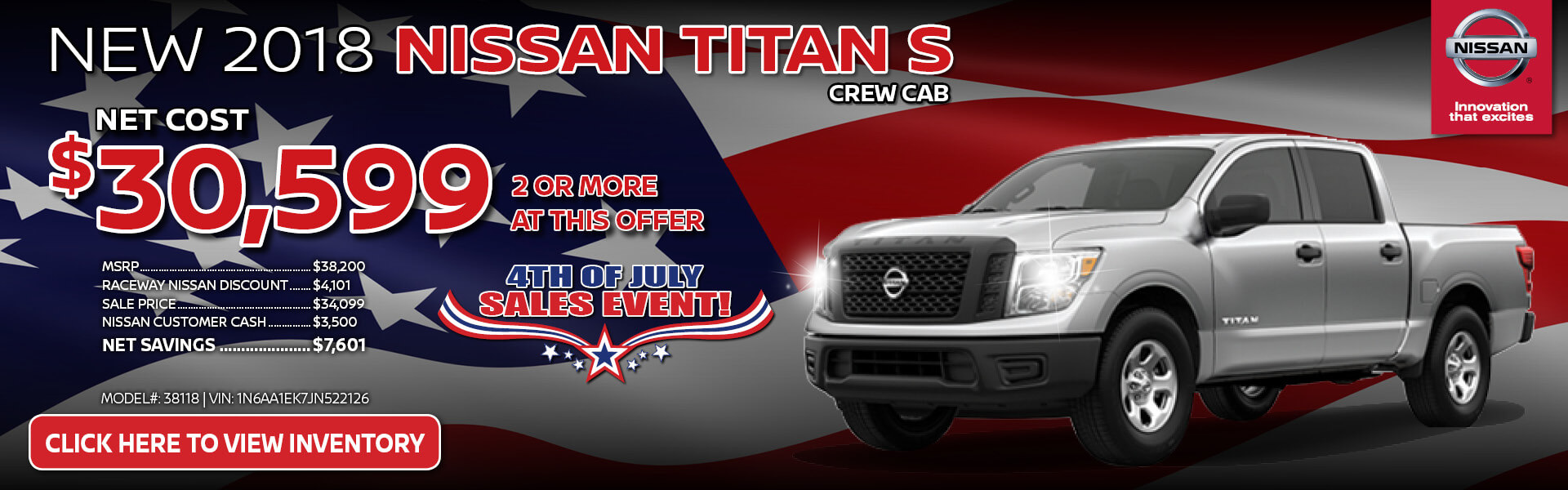 Nissan Titan $30,599 Purchase