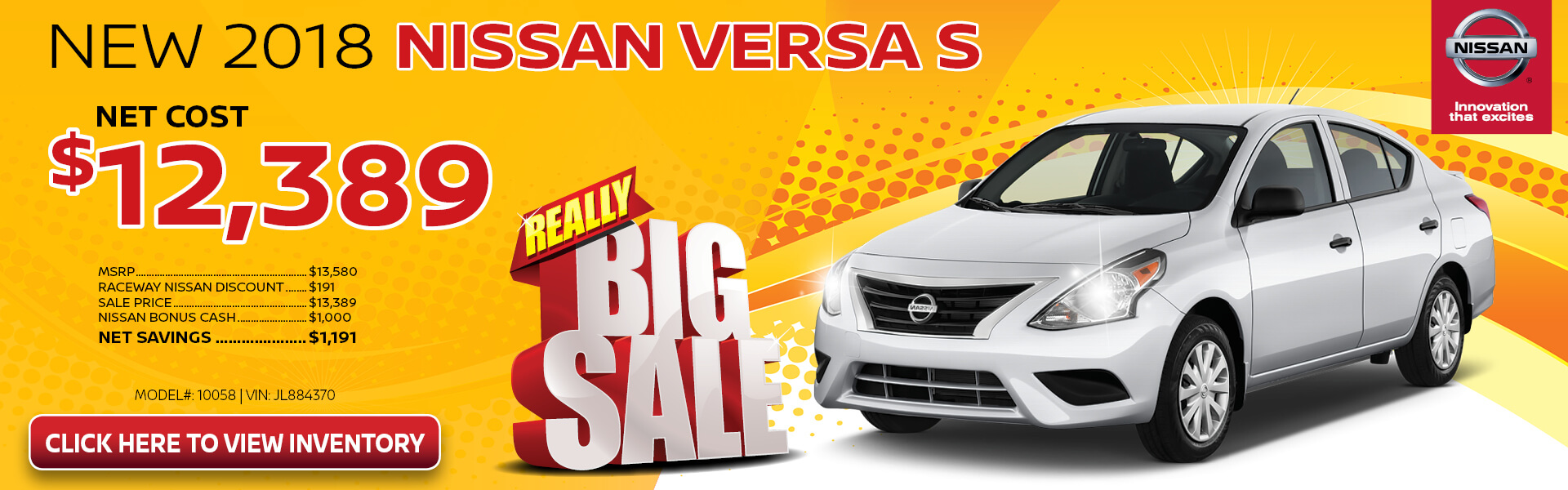 Nissan Versa $12,389 Purchase