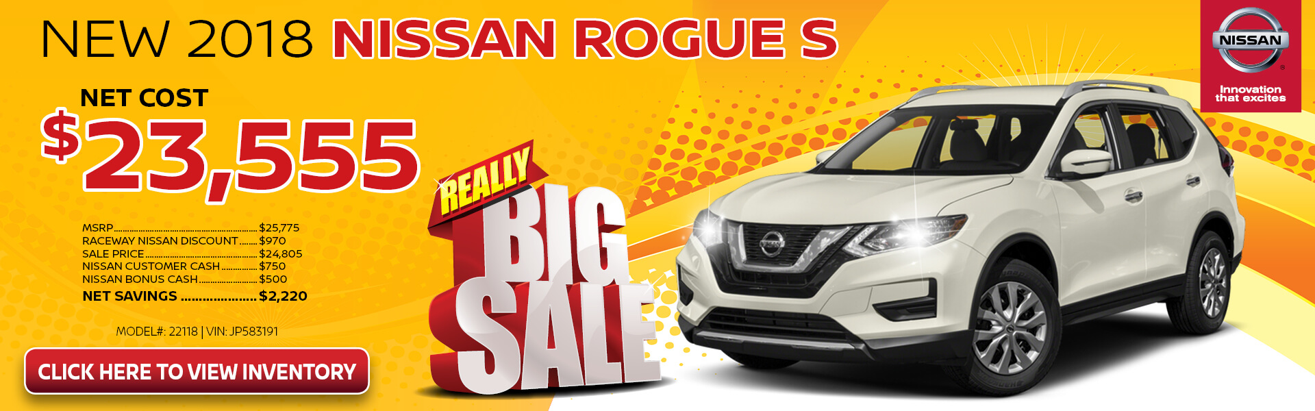 Nissan Rogue $23,555 Purchase