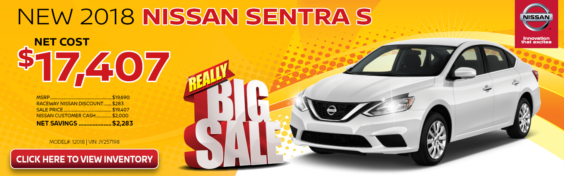 Nissan Sentra $17,407 Purchase
