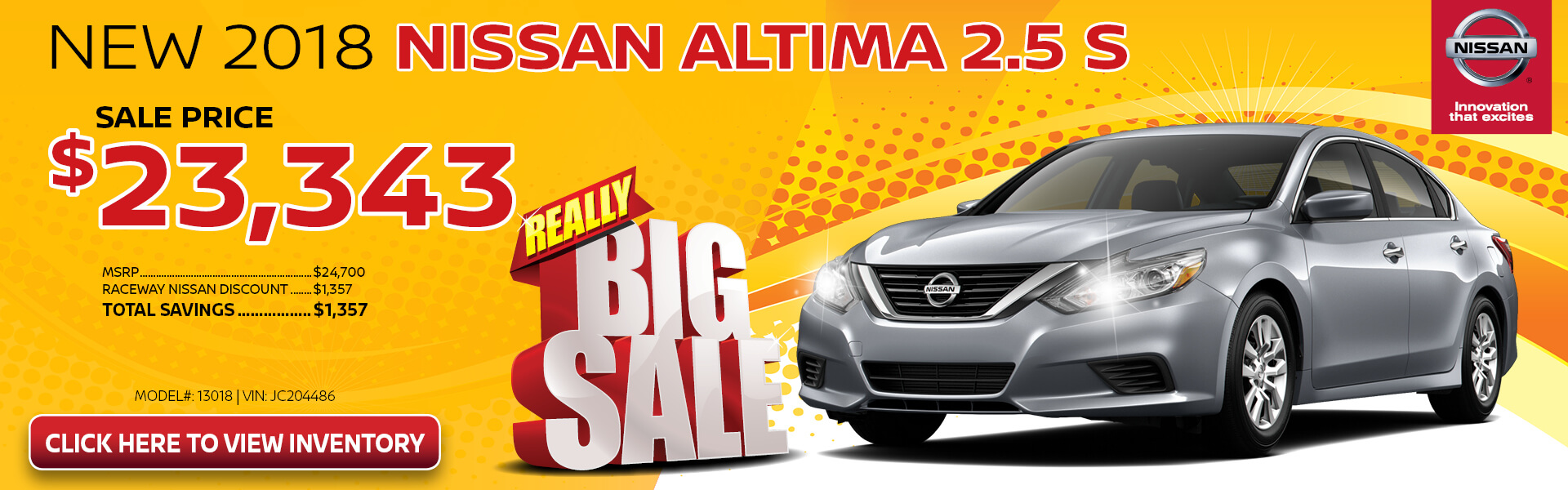Nissan Altima $23,343 Purchase