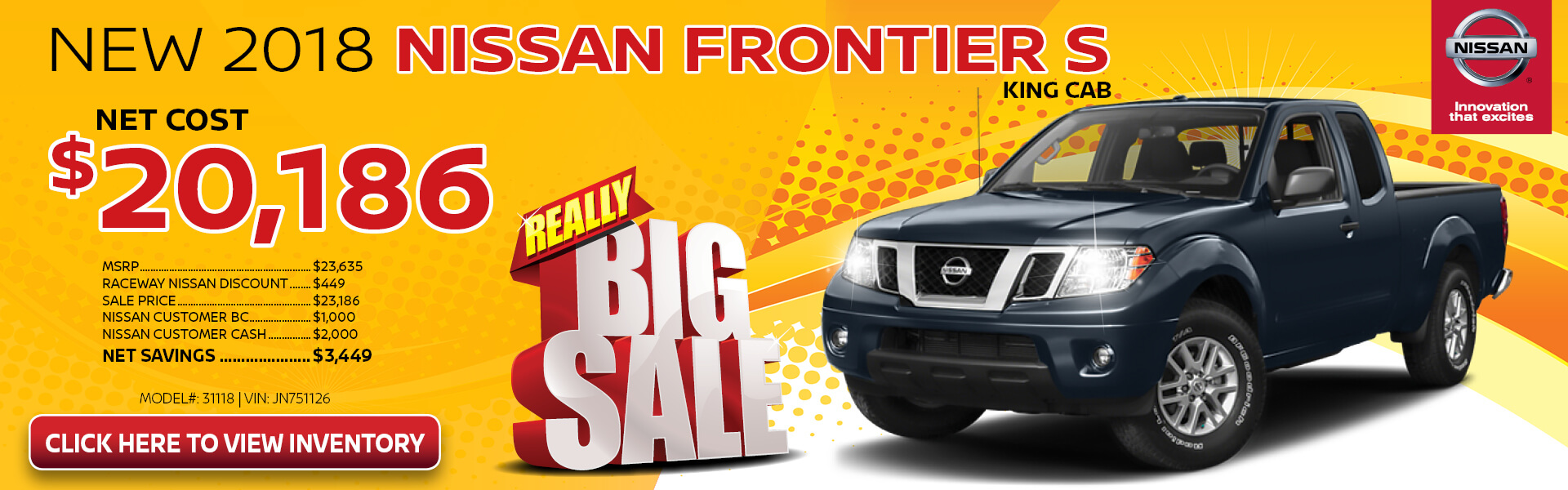 Nissan Frontier $20,186 Purchase