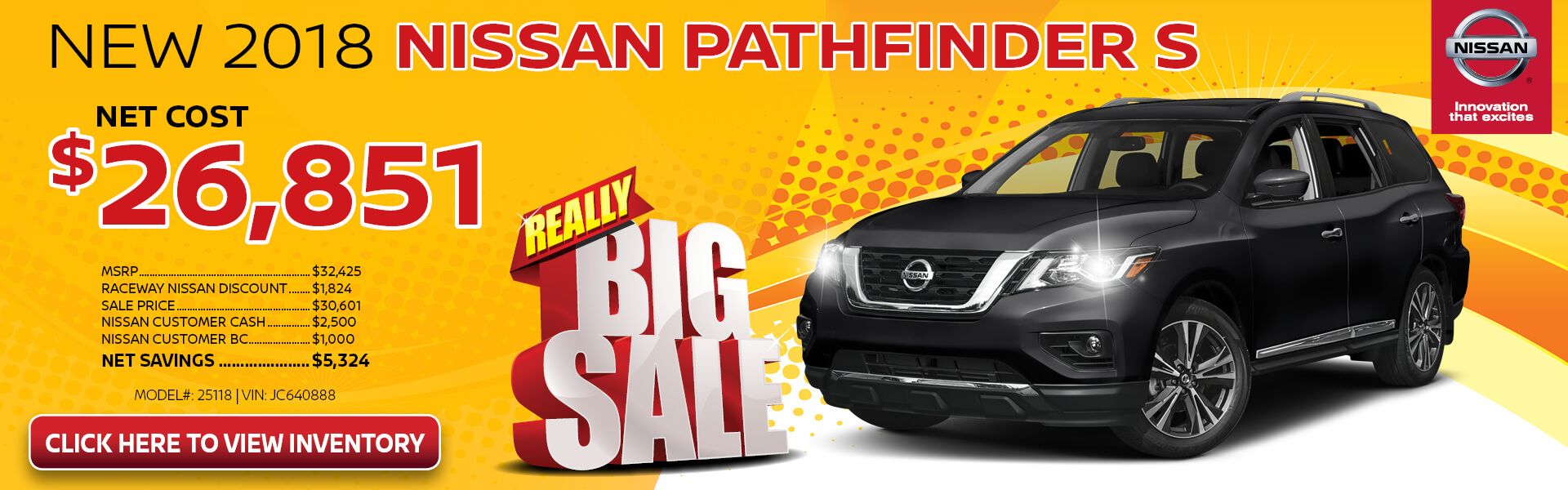 Nissan Pathfinder $26,851 Purchase