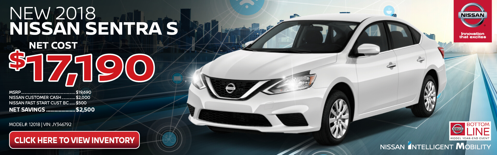 Nissan Sentra $17,190 Purchase