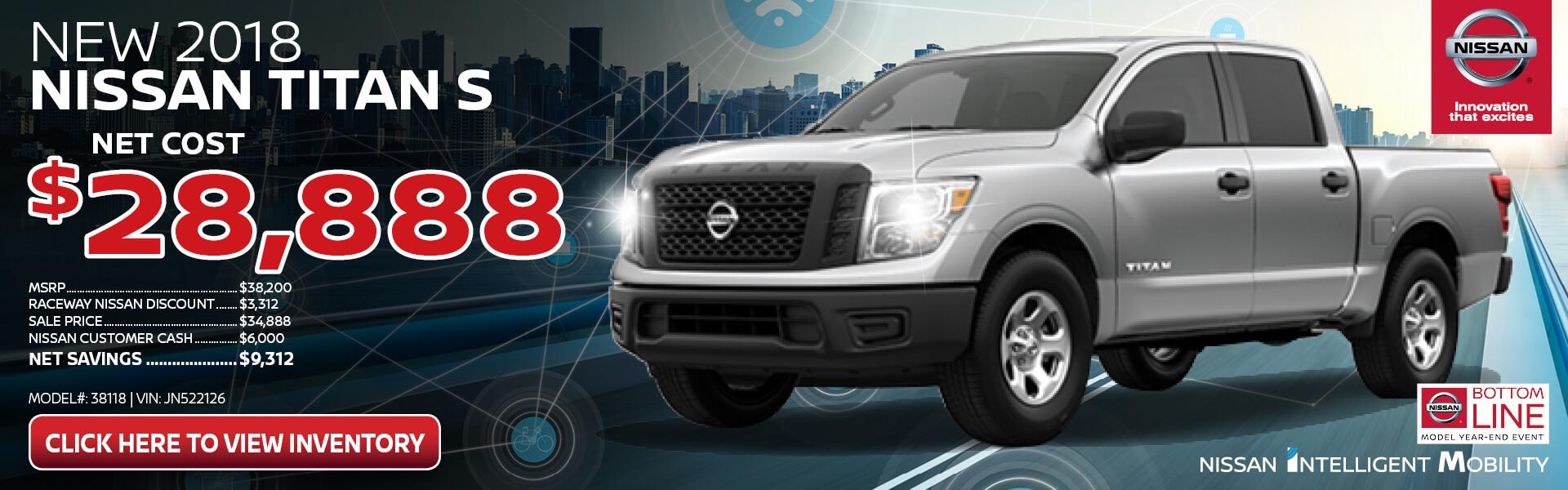 Nissan Titan $28,888 Purchase