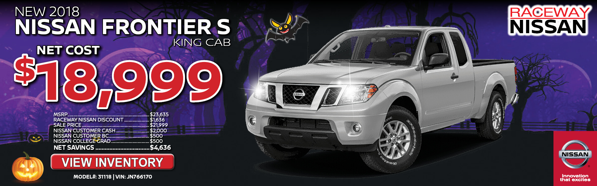 Nissan Frontier $18,999 Purchase
