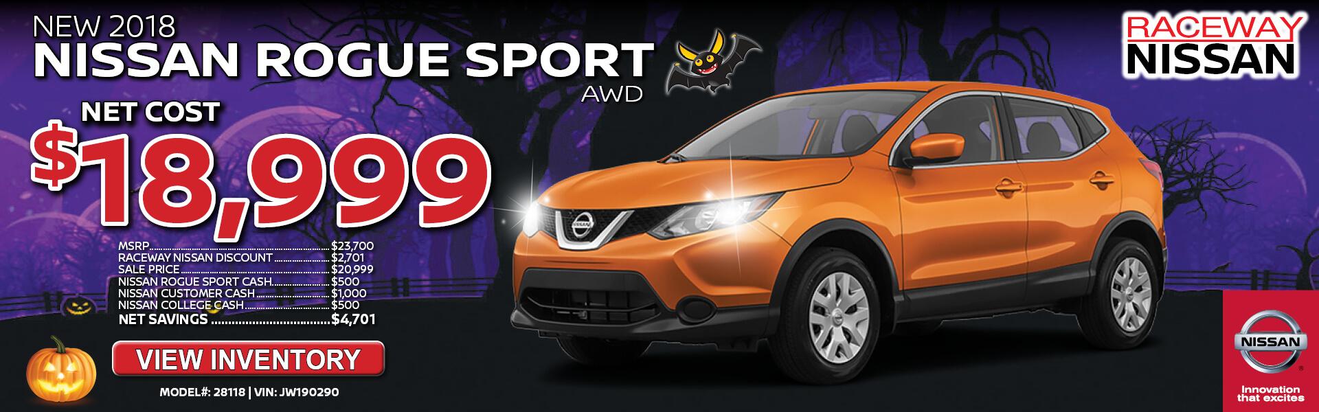 Nissan Rogue Sport $18,999
