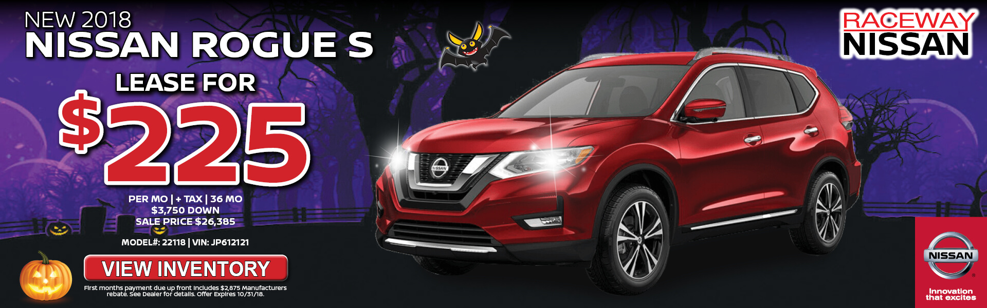 Nissan Rogue $225 Lease