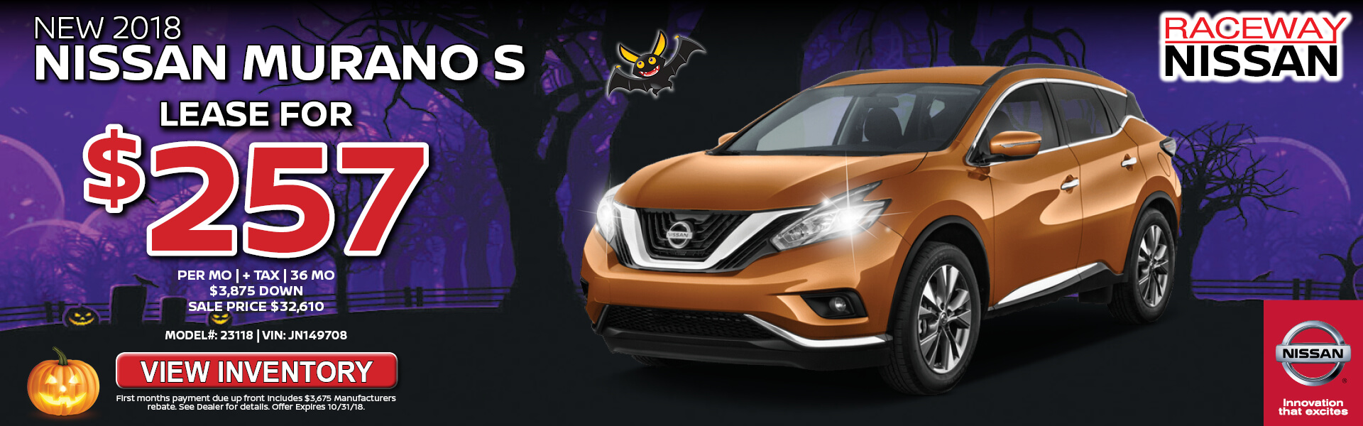 Nissan Murano $257 Lease