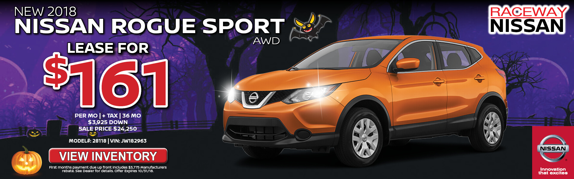 Nissan Rogue Sport $161 Lease