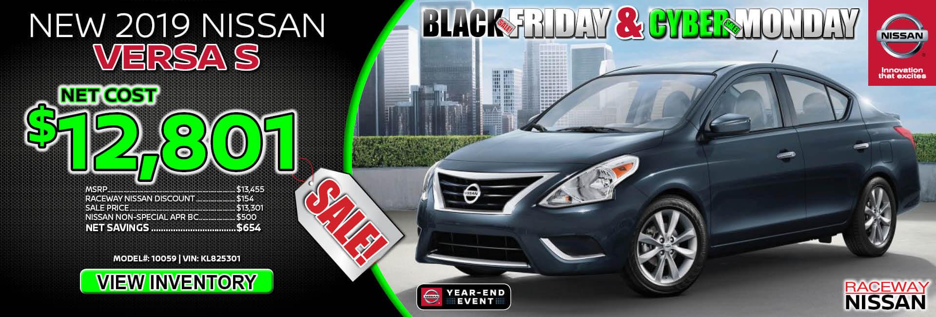 Nissan Versa $12,801 Purchase