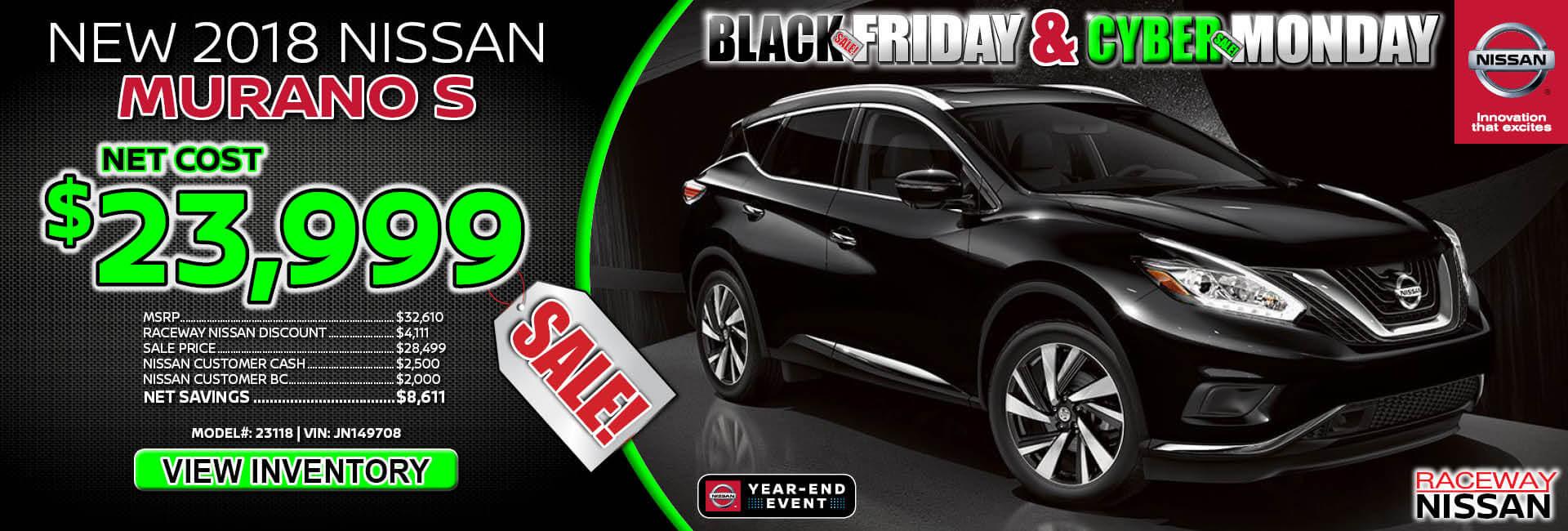 Nissan Murano $23,999 Purchase