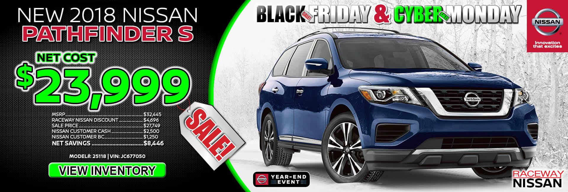Nissan Pathfinder $23,999 Purchase