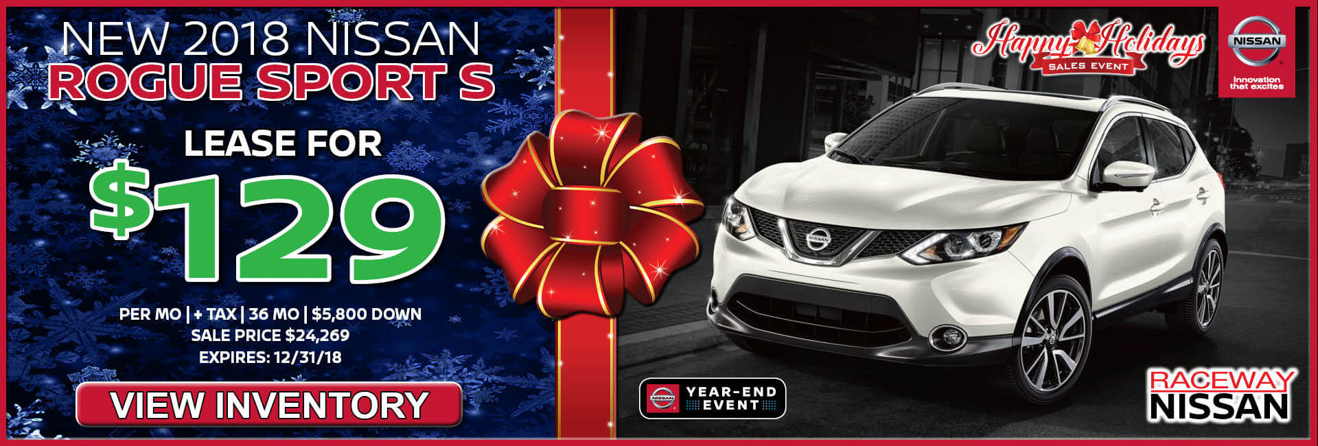 Nissan Rogue Sport $129 Lease