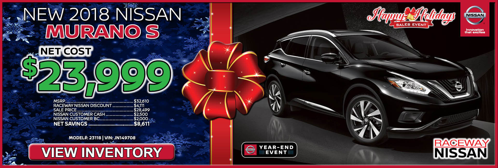 Nissan Murano $23,999 Purchase