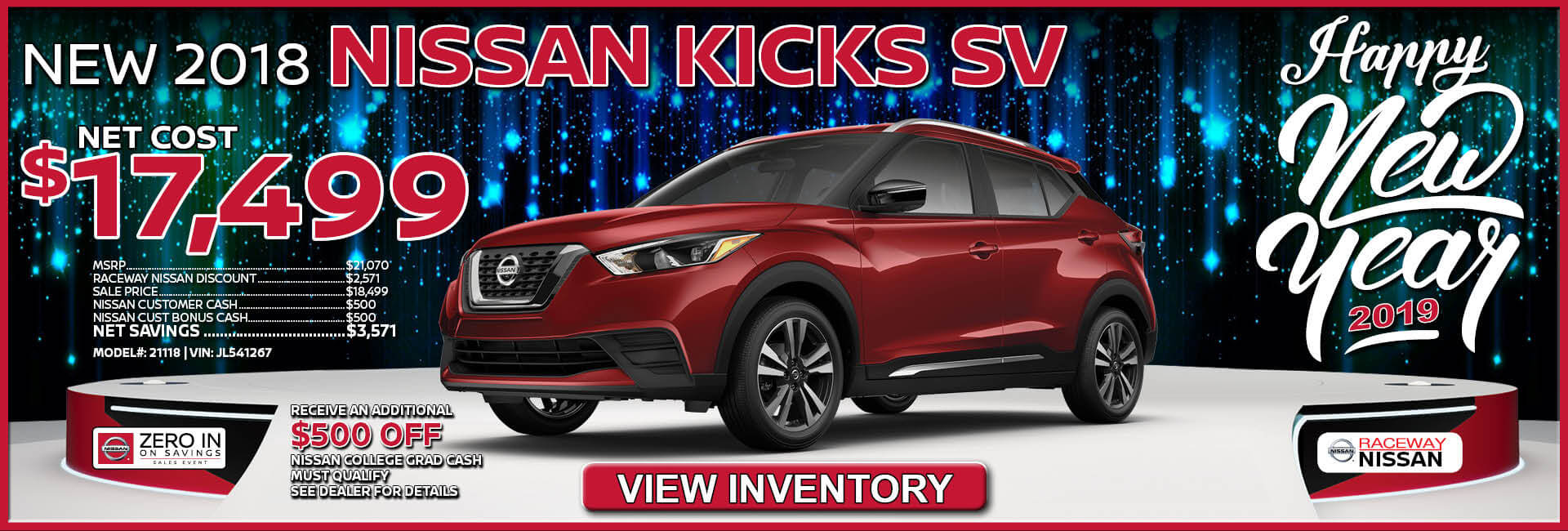 Nissan Kicks $17,499