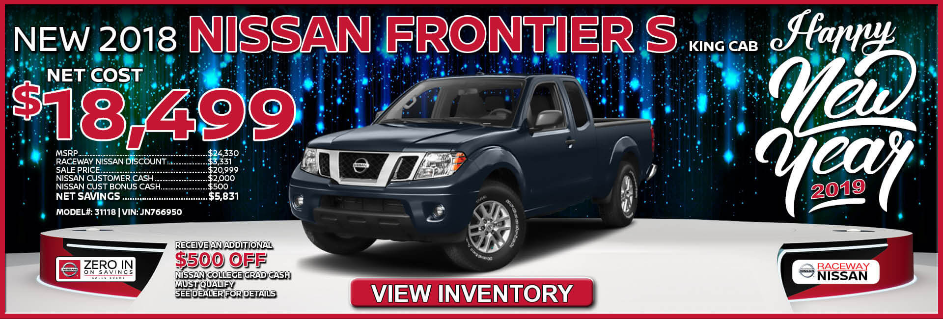 Nissan Frontier $18,499 Purchase