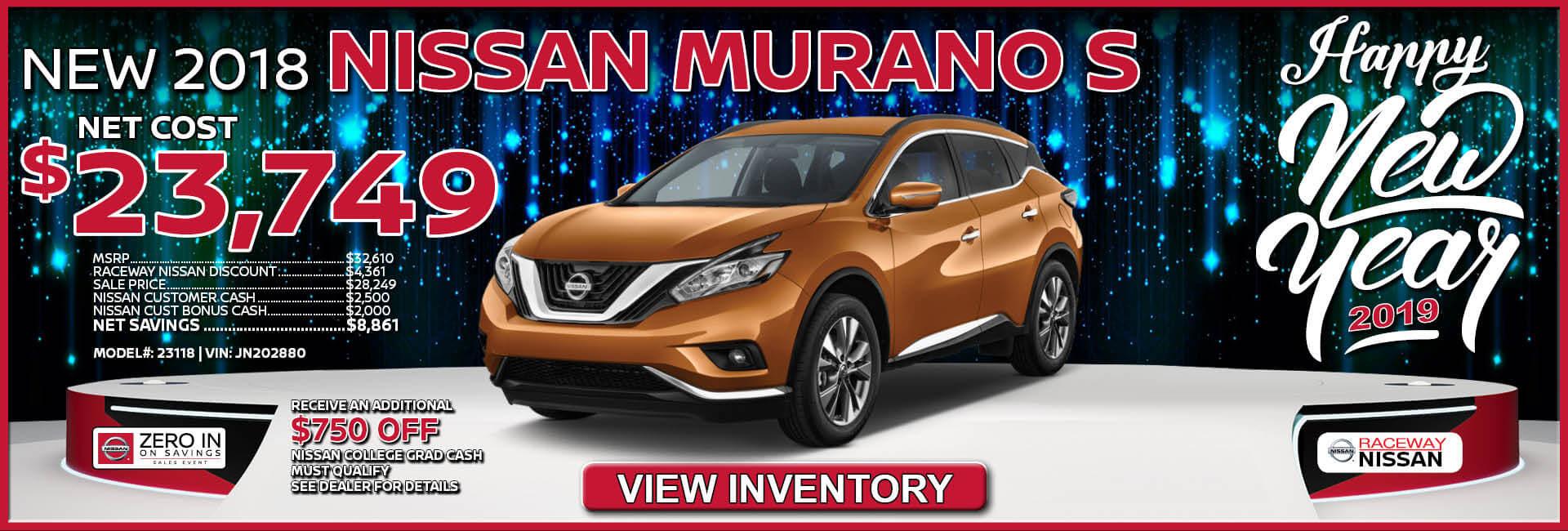 Nissan Murano $23,749 Purchase