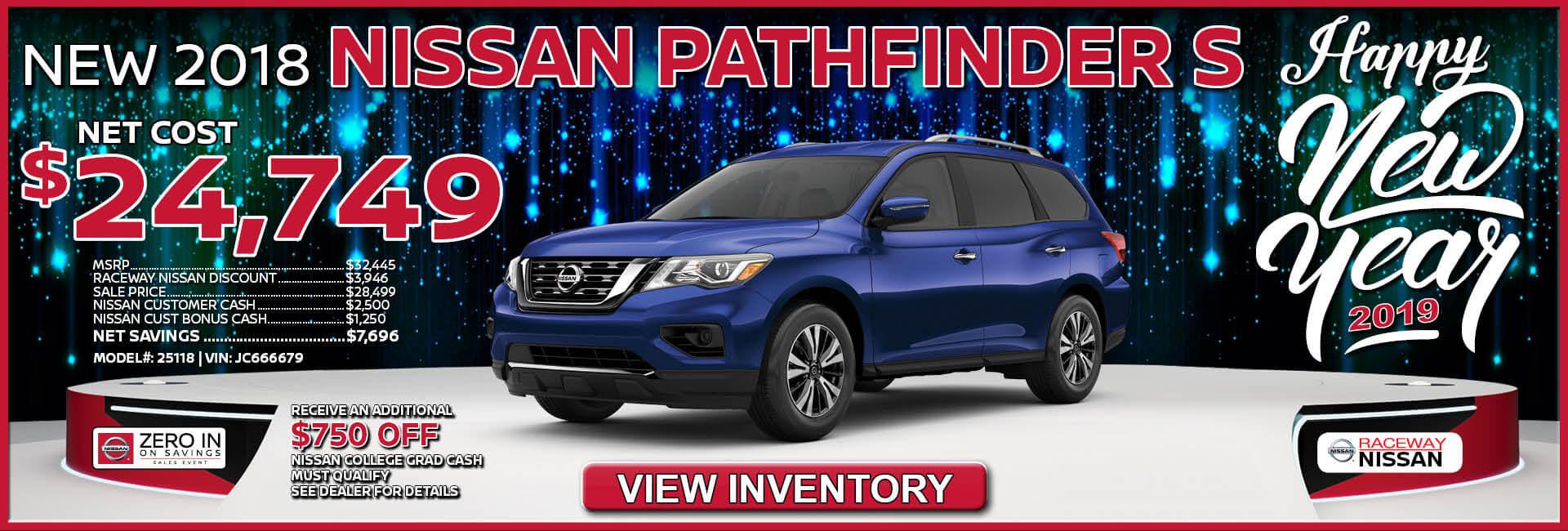 Nissan Pathfinder $24,749 Purchase