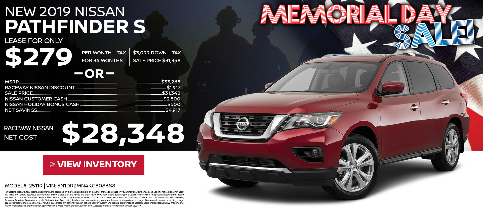 Pathfinder Lease $279