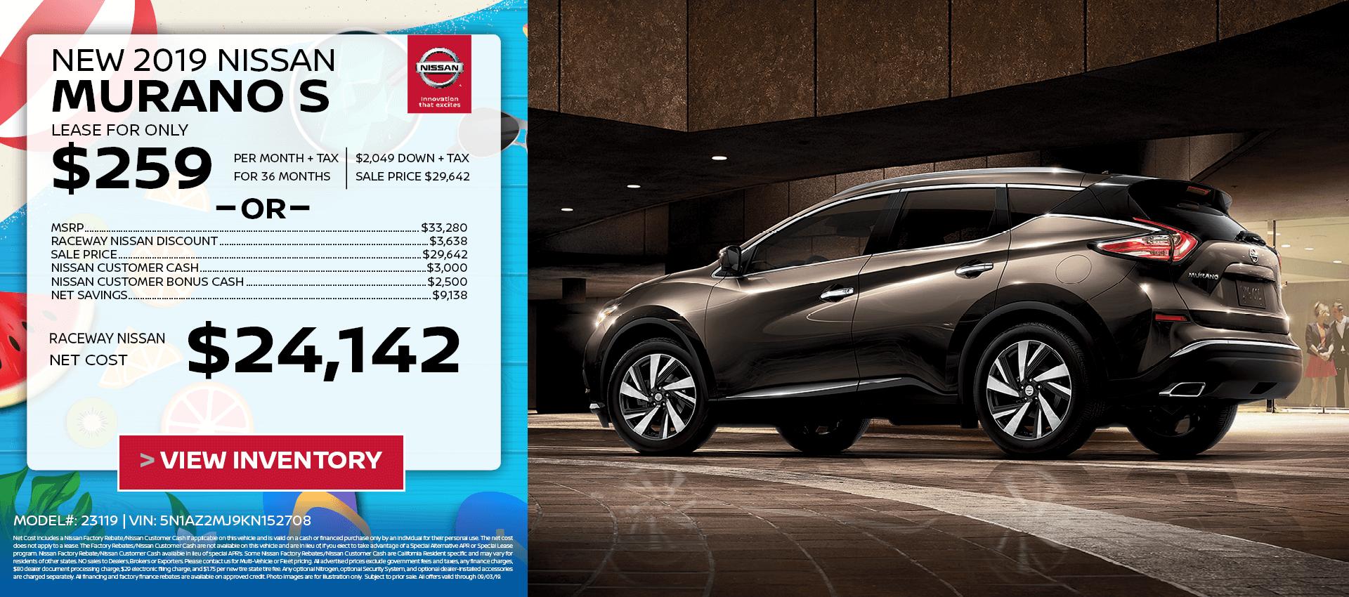 Nissan Murano $259 Lease