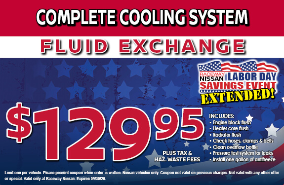 COMPLETE COOLING SYSTEM FLUID EXCHANGE