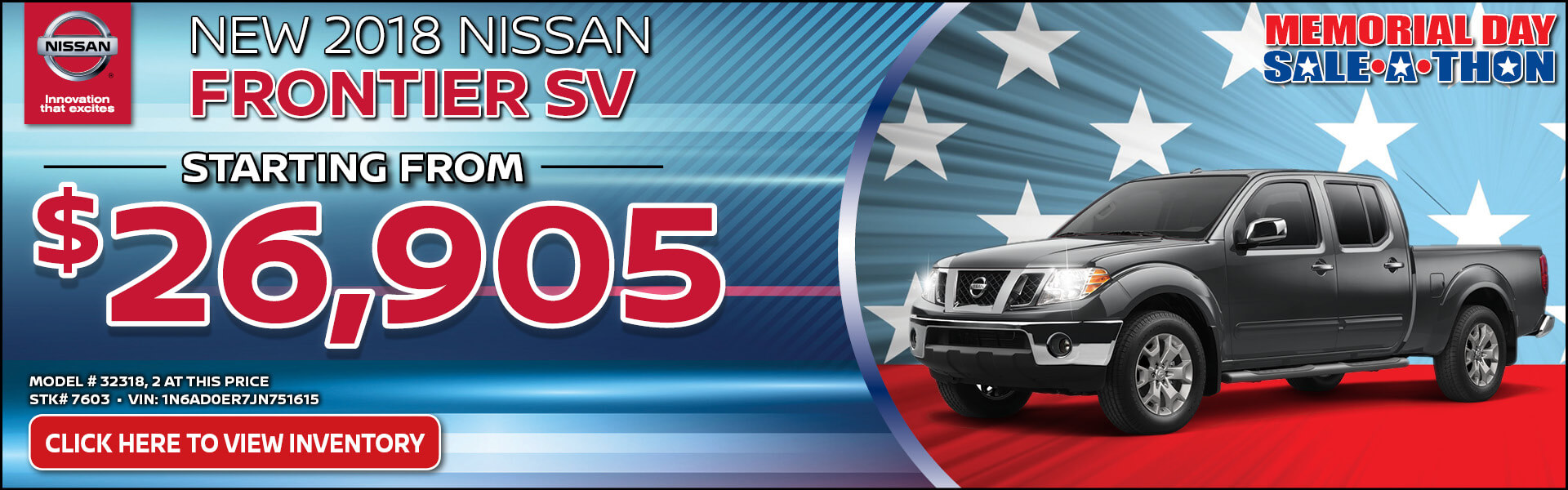 Nissan Frontier $26,905 Purchase