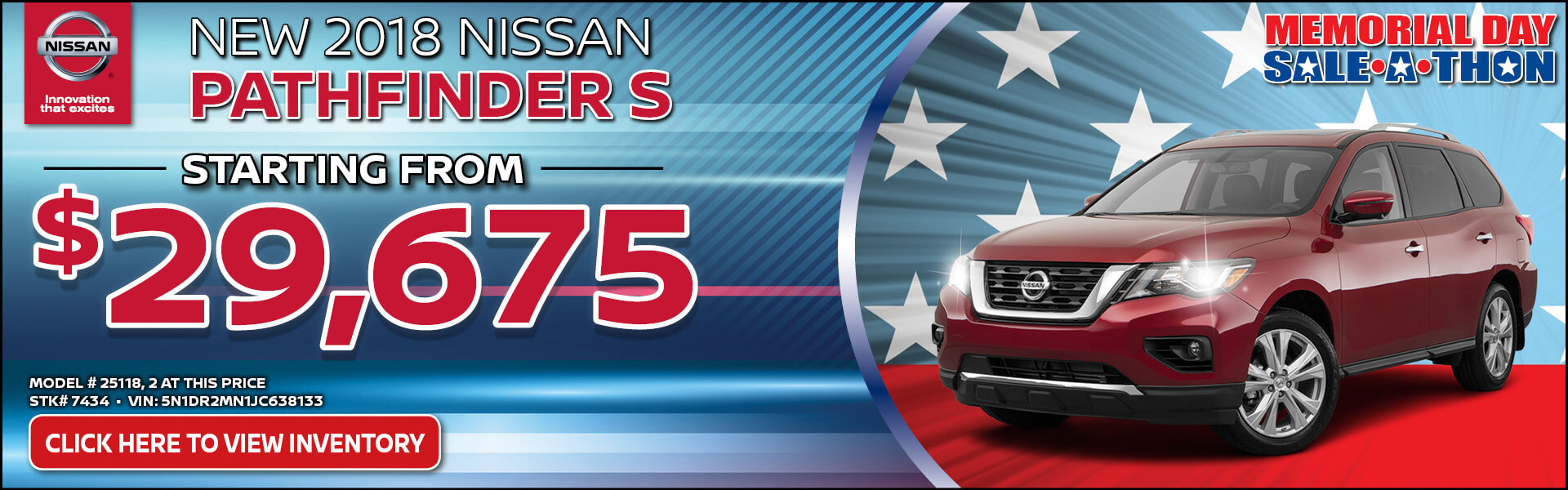 Nissan Pathfinder $29,675 Purchase