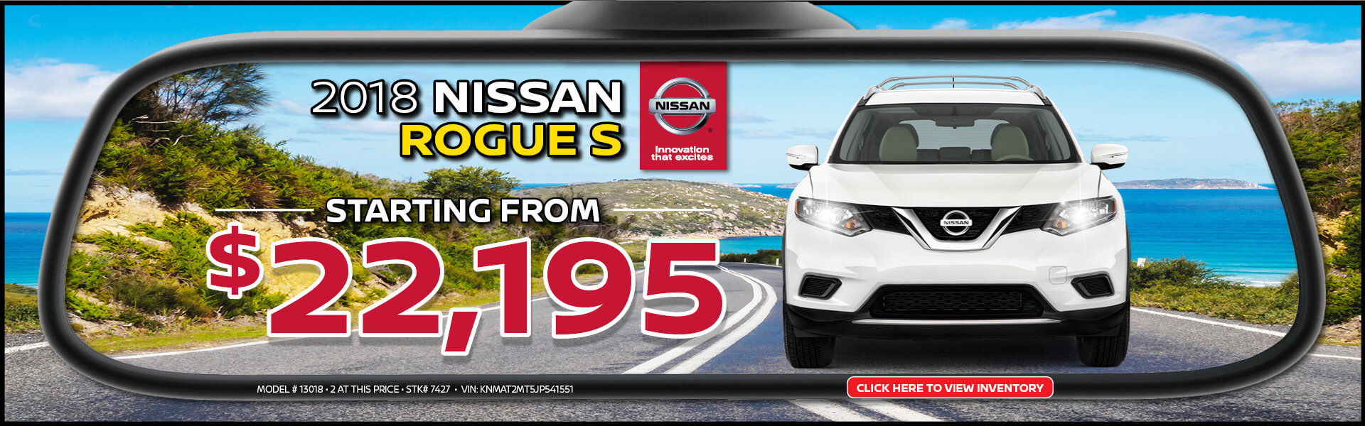 Nissan Rogue $22,195 Purchase