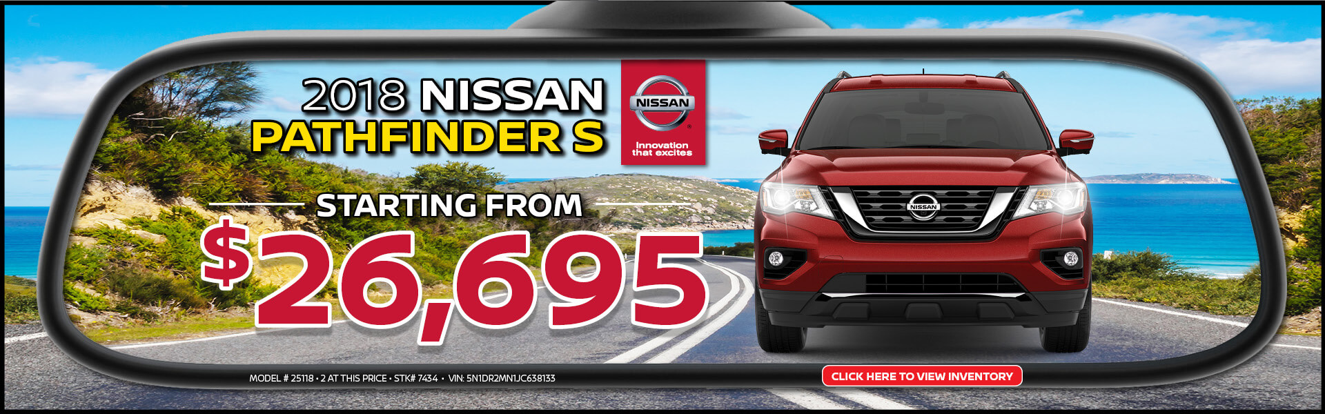 Nissan Pathfinder $26,695 Purchase