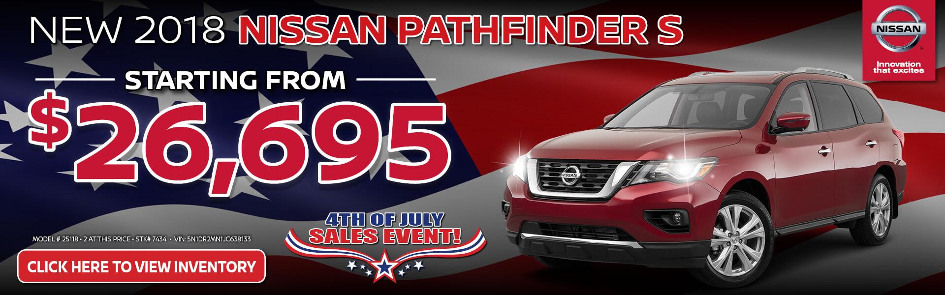 Nissan Pathfinder $26,695 Purchase