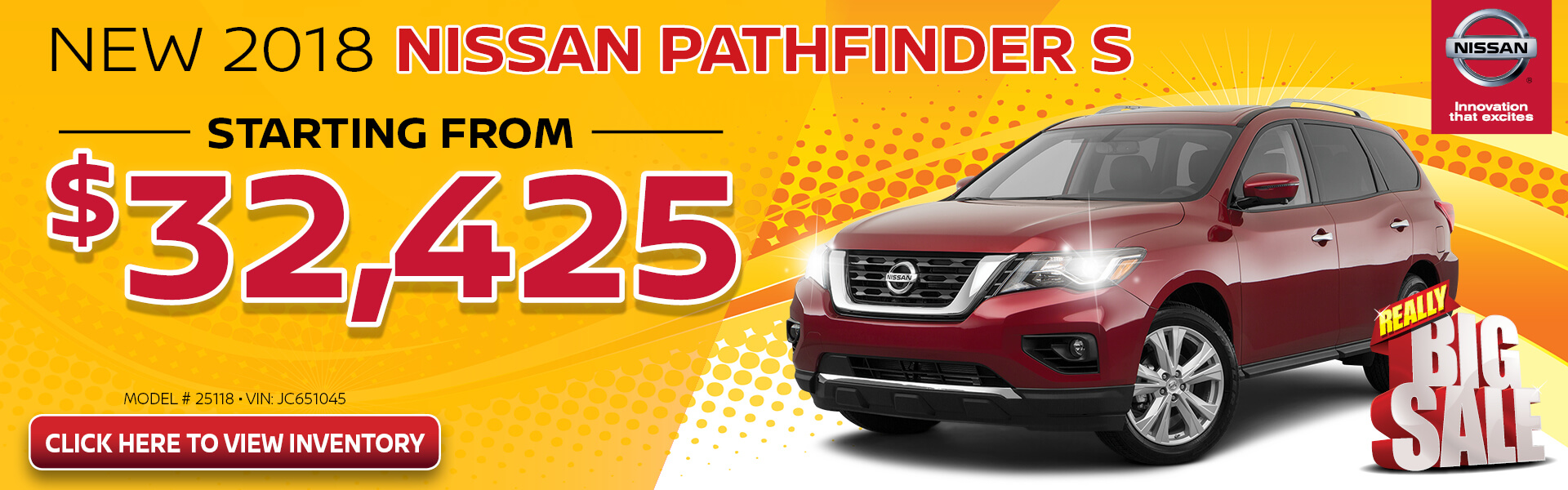 Nissan Pathfinder $32,425 Purchase