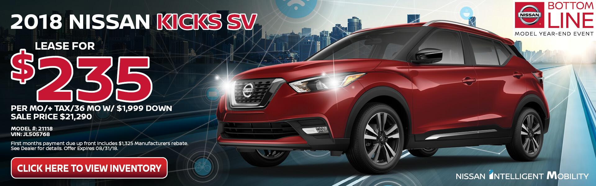 Nissan Kicks $235 Lease