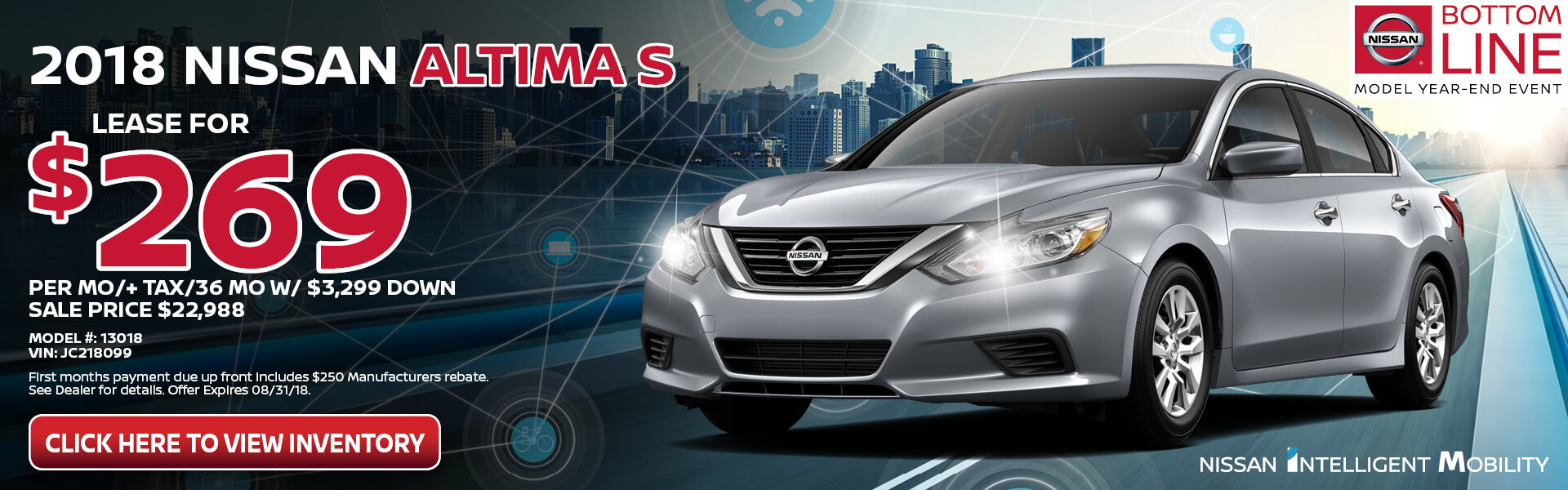 Nissan Altima $269 Lease