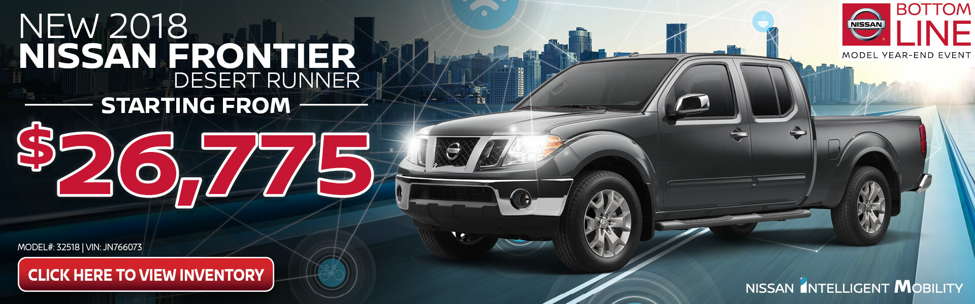 Nissan Frontier $26,775 Purchase